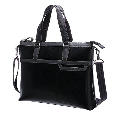 section Notebook Men's Vintage Briefcase For Business Casual Satchel Bags Men's Business Qi Bags Leather Bags Men's Cross Bags Suitable pRnFz