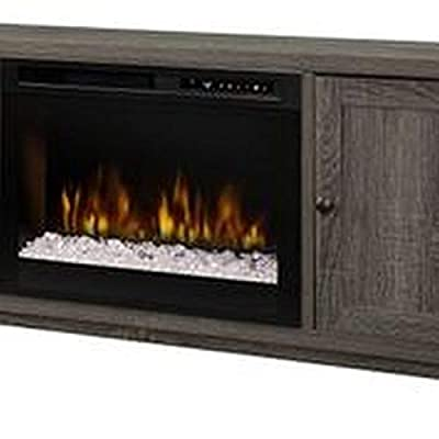 DIMPLEX Jesse Media Console Electric Fireplace with Glass Ember Bed Iron Mountain GREY/1500