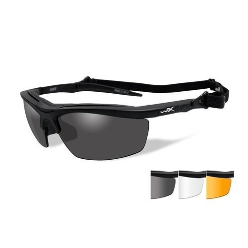 (Wiley X Guard Sunglasses, Smoke Grey/Clear/Light Rust, Matte Black)