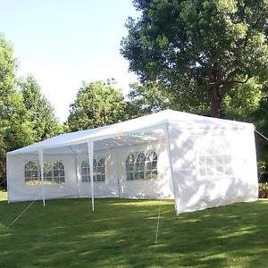 10'x30′ Party Wedding Outdoor Patio Tent Canopy Heavy duty Gazebo Pavilion Event 5 Side Walls