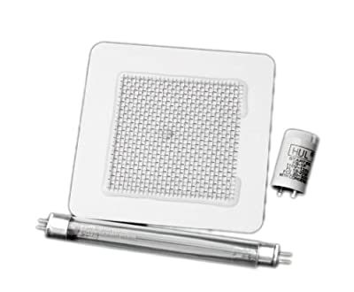 Three Piece Kit - Ozone Plate, UV Lamp and Starter for EcoQuest Vollara Living Air 120FA Purifier by Purifier-Parts.com
