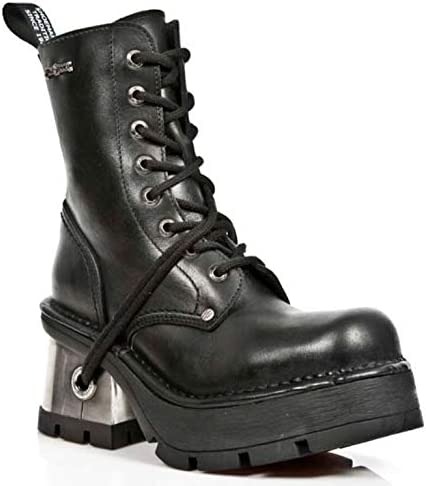 New Rock NEOTR008-S18 Trail Back Gothic Rock Punk Ladies Classic Leather Boots