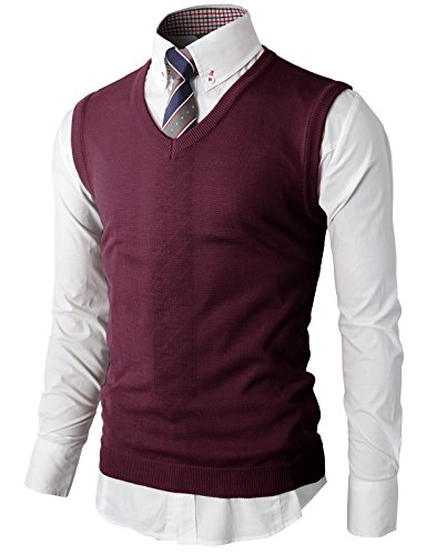 H2H Mens Active Thermal Slim Fit Knitted Vests Purple US 2XL/Asia 3XL (KMOV050) (Thermal Sleeveless Vest)
