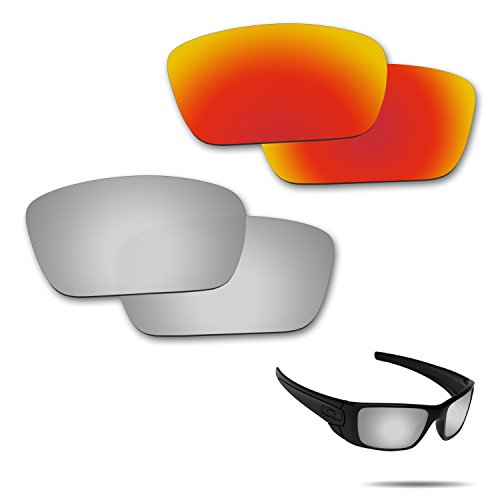 Fiskr Anti-saltwater Polarized Replacement Lenses for Oakley Fuel Cell Sunglasses 2 Pairs - Prizm Fuel Oakley Cell Lenses