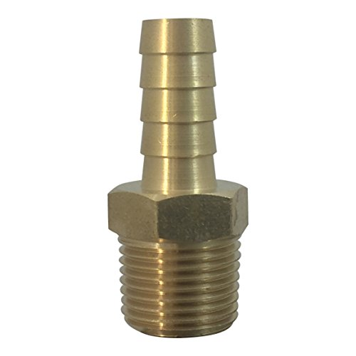 MADOL Brass Fuel Line or Gas Application Connector Fitting Hose 1/4
