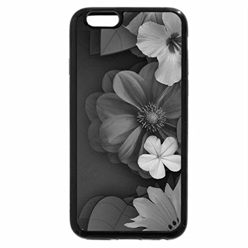 iPhone 6S Case, iPhone 6 Case (Black & White) - Flower Collage!
