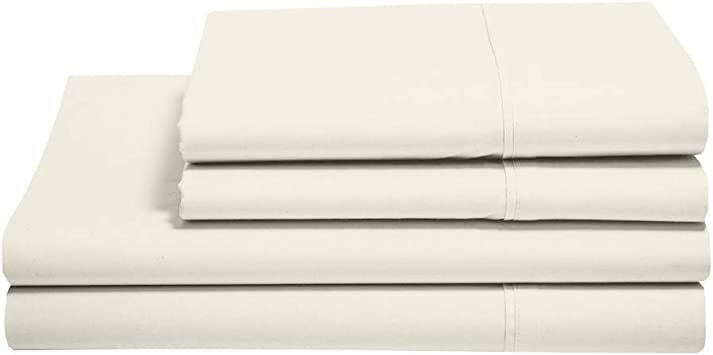 Aashi Giza Dream Sheets Twin Bed Sheet Set 100/% Certified Giza Long Staple Cotton Sheets Twin Giza Cotton Sheet Sets Fits Mattress Upto 18 Deep Pocket 4-PCs Twin Ivory