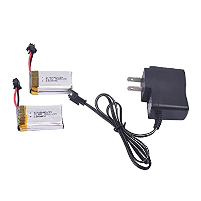 2pcs 7.4V 500mAh Battery and charger for F182 F183 JJRC H8D H8C RC quadcopter drone spare parts