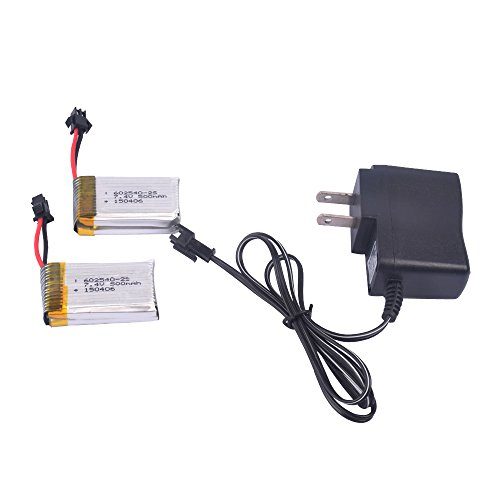 2pcs-74V-500mAh-Battery-and-charger-for-F182-F183-JJRC-H8D-H8C-RC-quadcopter-drone-spare-parts