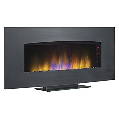 Classic Flame Transcendence Stainless Steel Electric Wall Hanging Fireplace