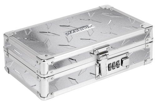 Vaultz VZ00460 Caja con cierre para objetos, 21.6 cm x 6.4 cm x 14 cm (8.5' x 2.5' x 5.5'), diseño metálico antiderrapante,...