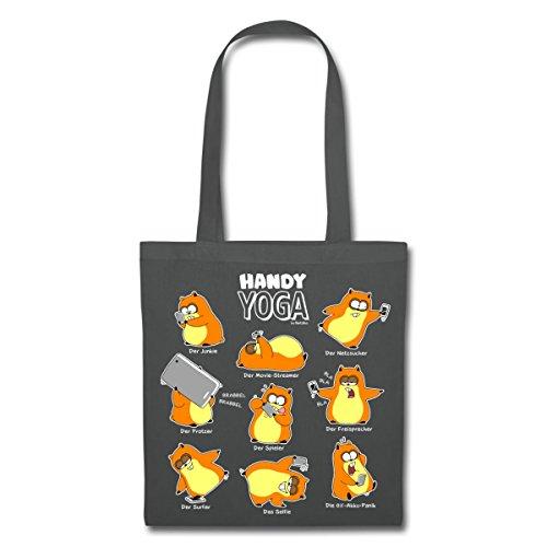 Spreadshirt Hamster Handy Yoga Stoffbeutel Graphite iTqNZeCyI0
