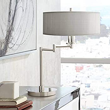 Neat Pleat Modern Swing Arm Desk Table Lamp Bronze