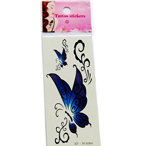 3D Color Butterfly Pattern Temporary Tattoos Stickers - 2