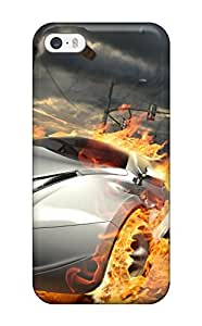 Iphone Cover Case - Destructive Car Race Protective Case Compatibel With Iphone 5/5s