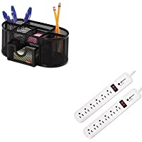 KITIVR71653ROL1746466 - Value Kit - Innovera Surge Protector (IVR71653) and Rolodex Mesh Pencil Cup Organizer (ROL1746466)