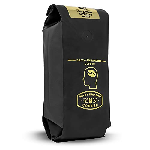 Alkaline Buzz – Brain Enhancing Ground Espresso Roast – 100% Organic Low Acid Coffee – Heightens Mental Acuity, Improves Memory & Focus – Impossibly Delicious! (16 oz) Review