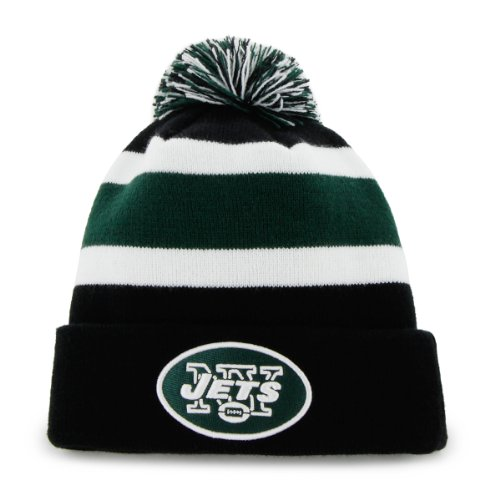 NFL New York Jets Men's Breakaway Knit Cap, One Size, Black