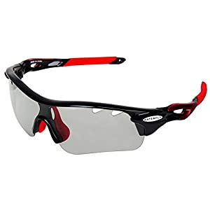 Clear Riding Sunglasses, WATERFLY Photochromic Sunglasses Color Changing Lenses Sports Sunglasses with UV Protection for Cycling Driving Fishing Running Golf