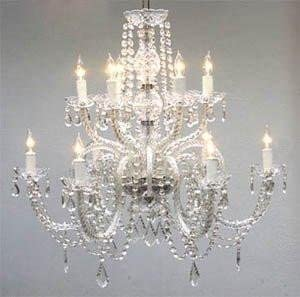 "Chandelier Lighting Crystal Chandeliers H27"" X W32"" - - Amazon.com"