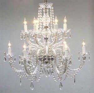 Amazon chandelier lighting crystal chandeliers h27 x w32 chandelier lighting crystal chandeliers h27quot mozeypictures Gallery