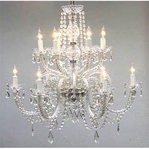Big chandelier amazon chandelier lighting crystal chandeliers h27 x w32 aloadofball Image collections
