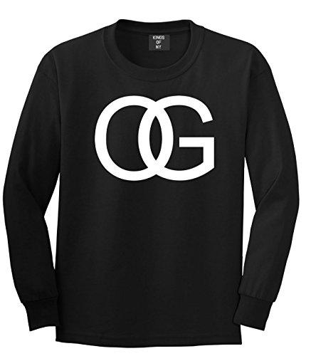 Kings Of NY OG Original Gangsta Gangster Style Green Long Sleeve T-Shirt Small Black (Ny Green)
