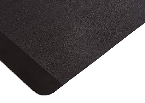 (Resilia Exercise Equipment Mat for Treadmill, Stationary Bike, Elliptical and Rowing Machine, 27 Inches X 6 Feet, Black, Made in USA)