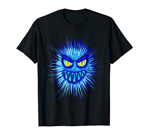 Funny Scary Blue Monster Halloween Costume T Shirt