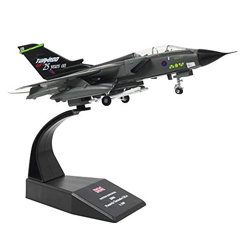 HANGHANG 1/100 Scale British Royal Air Force Tornado GR4 Fighter-Bombers Military Model Diecast Plane Model Kit ()