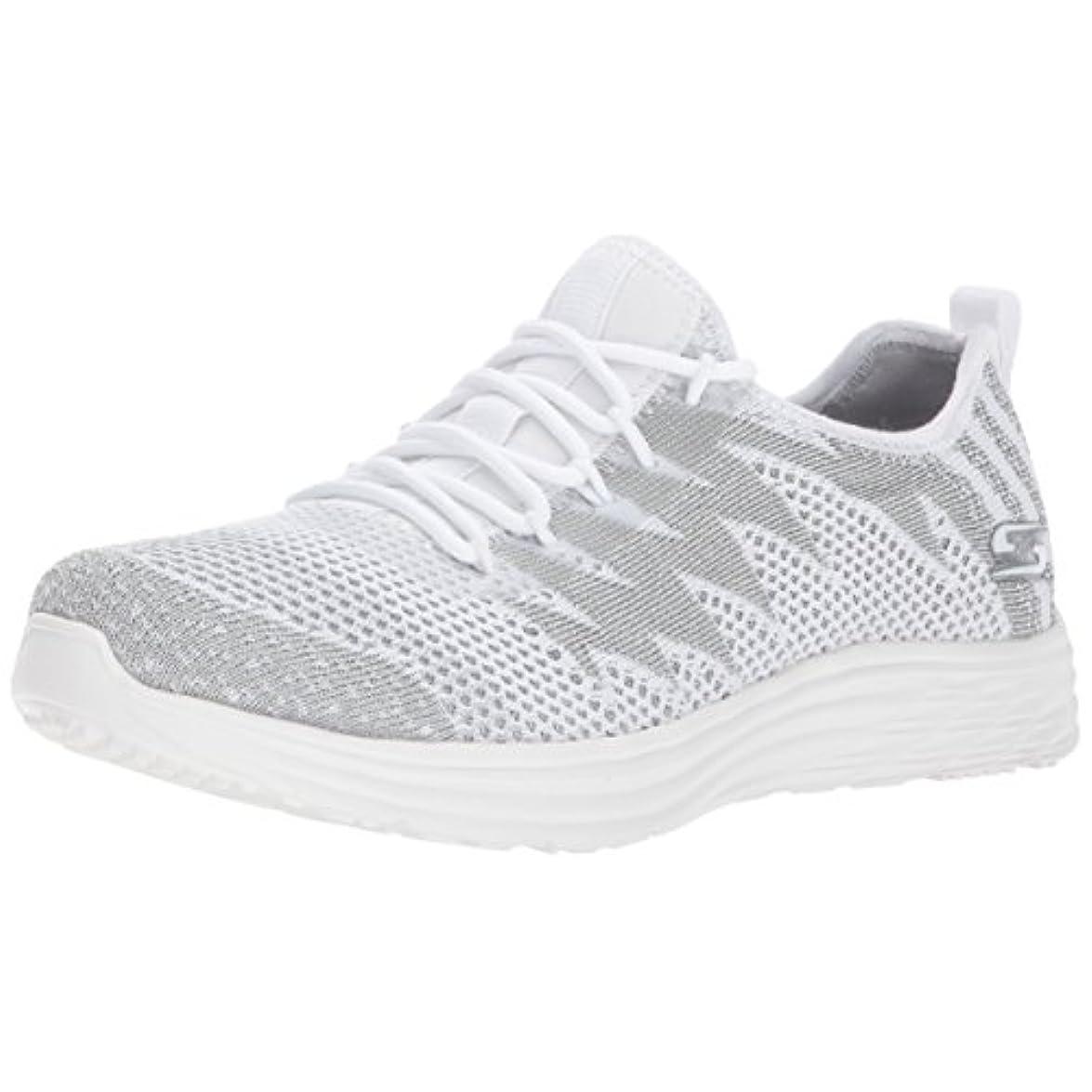 Skechers Womens Shoe Bobs Swift zap Zing White silver 5