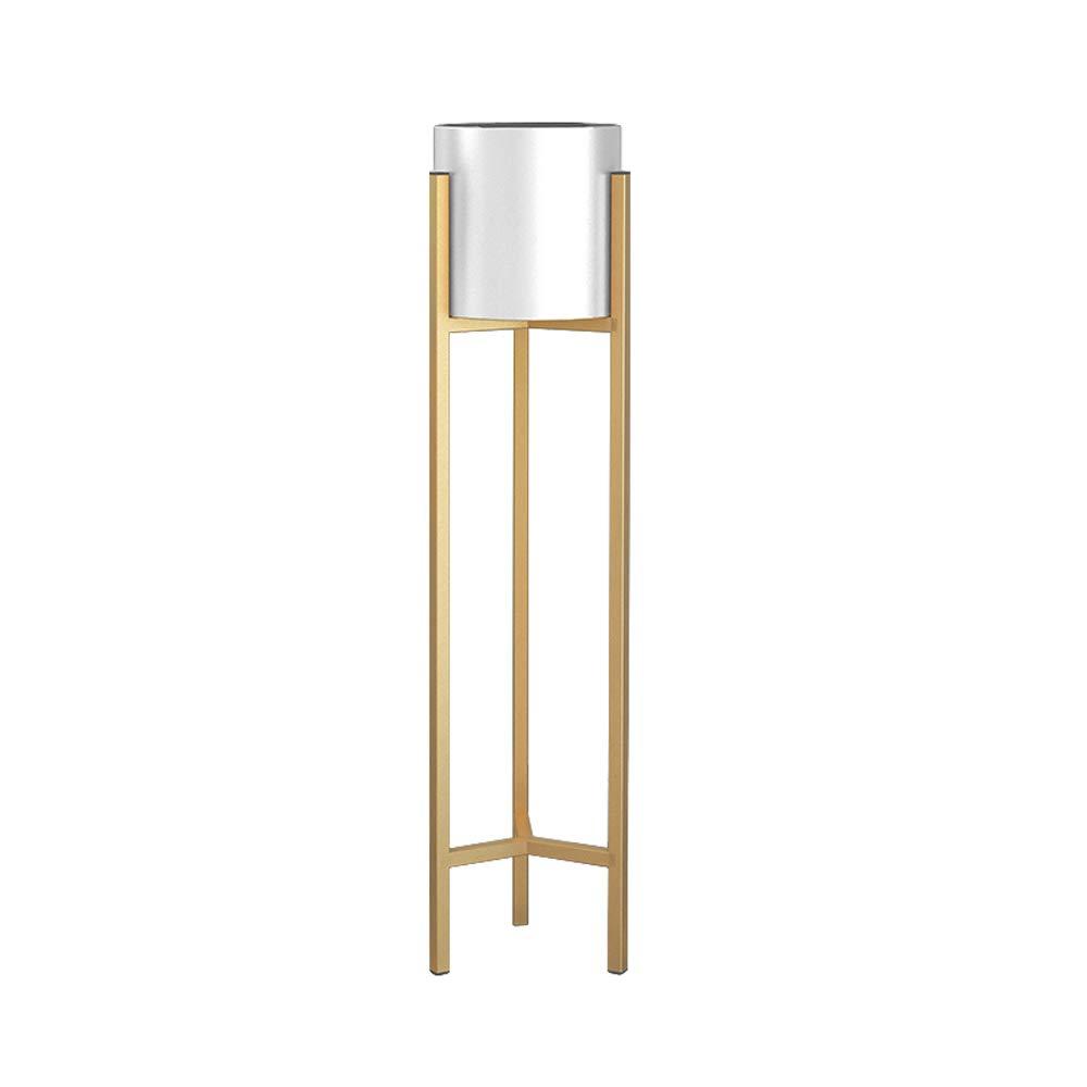 Color : White, Size : Large Tritow Nordic Iron Art Flower Stand Household Living Room Creative Flower Shelf Landing Modern Simple Gold Flower Pot Holder