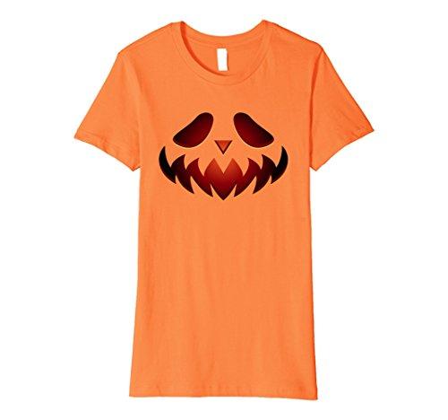 Womens Halloween Scary Face - Creative Costume Idea Shirt XL Orange (Creative Female Halloween Costume Ideas 2017)