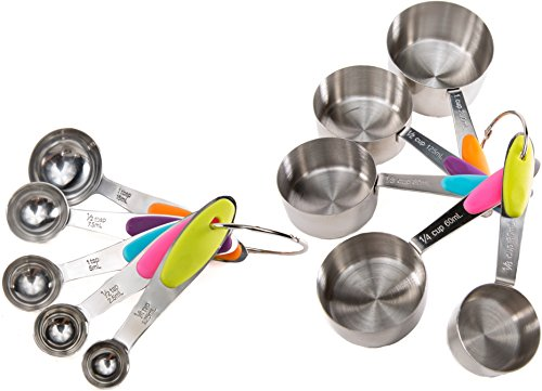 Measuring Cups and Spoons Set 10 pieces for