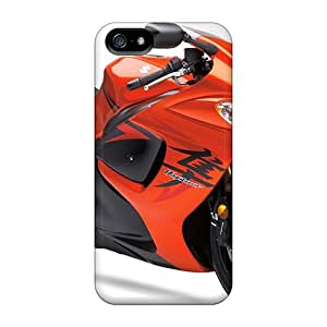 For Richardcustom2008 Iphone Protective Cases, High Quality For Iphone 5/5s Suzuki Hayabusa Orange Bike Skin Cases Covers