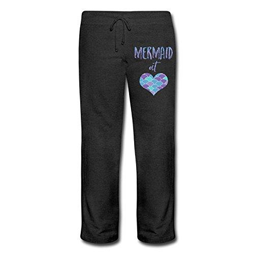 Mermaid At Heart2 Elastic Waist Jogger Sweatpants For Woman