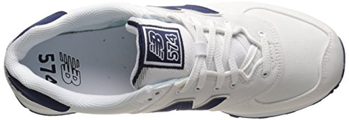 New Balance Men's ML574 Pique Polo Collection Running Shoe, White, 11 D US