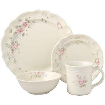 this item pfaltzgraff tea rose 16piece dinnerware set service for 4 - Pfaltzgraff Patterns