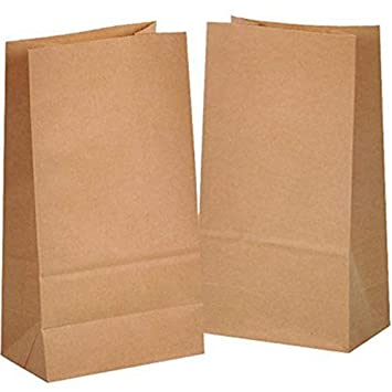 50 piezas Bolsas de Papel Regalo 14 x 26 x 8 cm - Bolsa Biodegradable Regalos Comunión para Invitados o para Guardar Comida, Semillas Flores, Dulces, ...