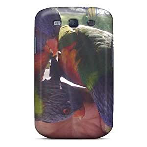 VrGczIs3826dBNQn AMGake Awesome Case Cover Compatible With Galaxy S3 - Rainbow Lorikeets