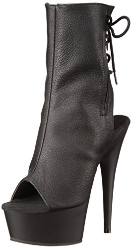 Pleaser 1018 Mujer Faux blk blk Botas Delight Leather Black trqnPY5tx6