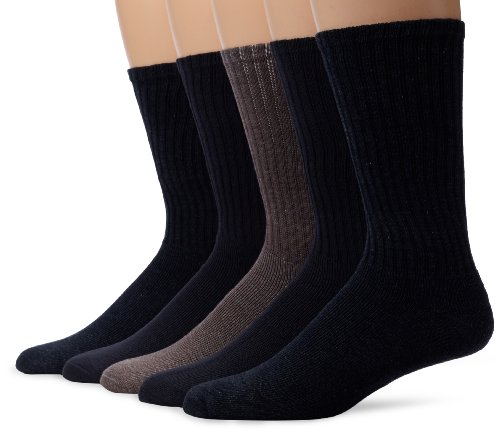 - Dockers Men's 5 Pack Cushion Comfort Sport Crew Socks, Navy/Charcoal Assorted, Shoe 6-12 Size: 10-13