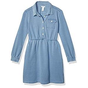 Best Epic Trends 41HJDH4hHYL._SS300_ Amazon Brand - Spotted Zebra Girls' Knit Long-Sleeve Denim Dress