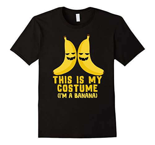I'm A Banana Costume (Mens This IS My Costume I'm A Banana Shirt, Funny Halloween Gift Medium Black)