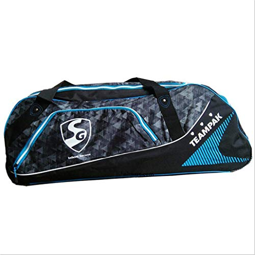 SG Teampak Large Duffel Cricket Kit Bag Full Size with Wheels and Handle for Men/Single Player/Individual Personal Cricket Kit -