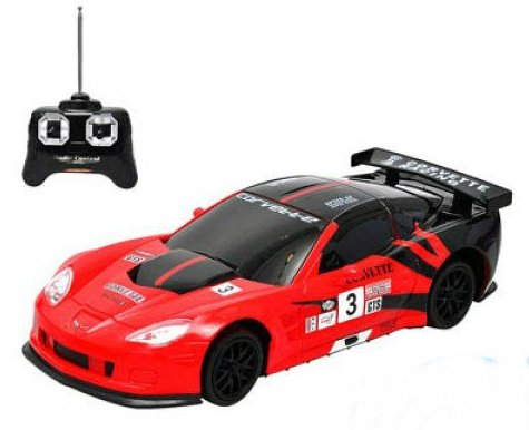 Chevrolet Corvette C6.R R/C Radio Remote Control Car 1:24 Scale (Red/Black)