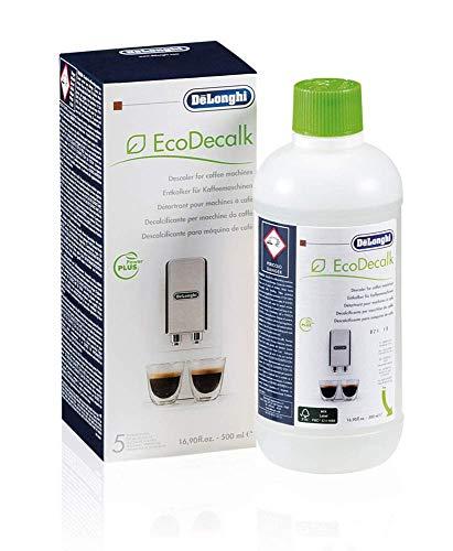 Delonghi Ecodecalk - Liquido descalcificador universal, cafeteras superautomaticas, 500 ml, ecologico y eficiente, compatible cafeteras modelos ECAM / ETAM