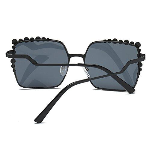 Lente de Anteojos marrón para Solar Gafas UV400 Espejo Protección Marco Gato de Sol Espejo Metal de Hombre Homyl Gris ojo Mujer qYwZHZI