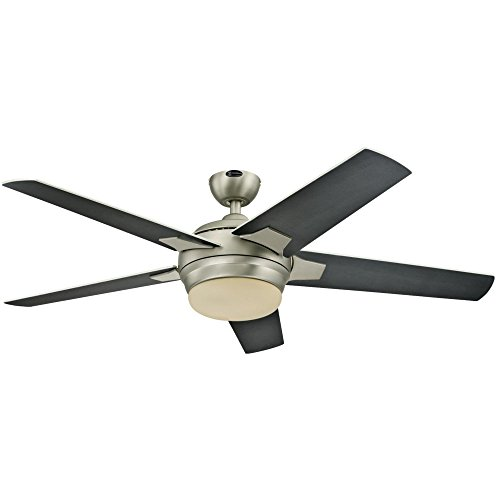 Westinghouse 7204000 Bolton Two-Light 52 Reversible Plywood Five-Blade Indoor Ceiling Fan, Brushed Aluminum