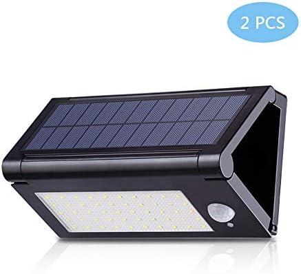 Aplique de Pared con Sensor de Movimiento Solar, 50 LED 180 ° Inalámbrico Inalámbrico LED Sensor Luz de Seguridad Solar Puerta Delantera, Patio Trasero, terraza, calzada Luz de Pared Solar: Amazon.es: Hogar